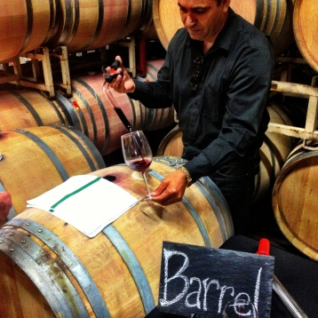 A private barrel tasting with the Cellarmaster of the Zaca Mesa Syrah 2011