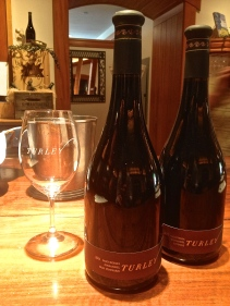 Tasting the Dusi Vineyard and Juvenile Zinfandel wines at Turley Wine Cellars in Paso Robles, CA